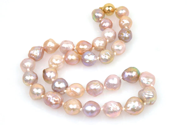 pink color japan kasumi pearl necklace