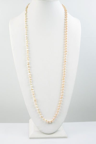 mixed shape pearl wrap necklace