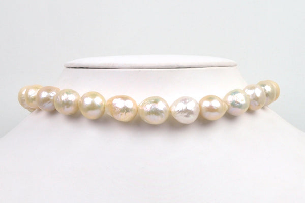giant cream color ripple pearls