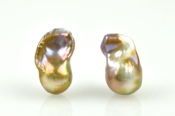 golden baroque flameball pearl pair