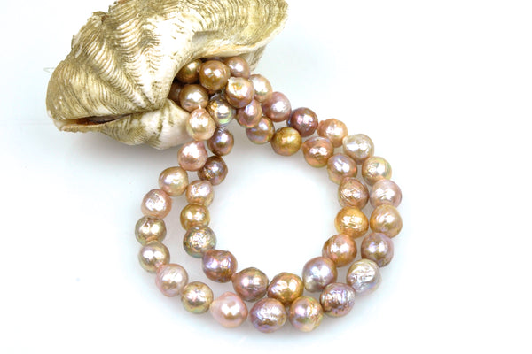 deep natural color ripple pearls