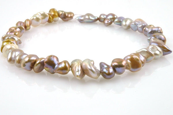 doublet natural color pearl strand