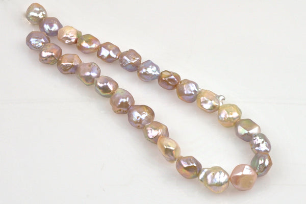 faceted nucleus baroque mega pearl strand