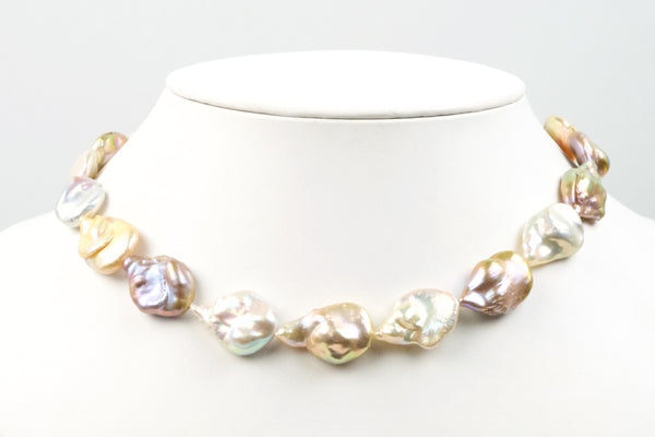 baroque teardrop unusual cfw pearl strand