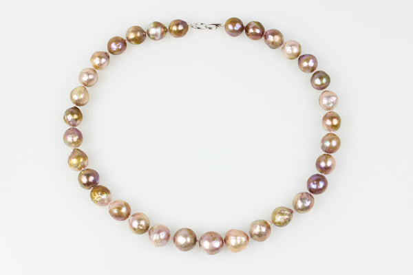 golden rainshine chinese freshwater pearl necklace