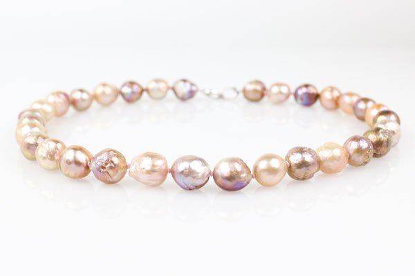 rippled rainbows chinese freshwater pearl necklace