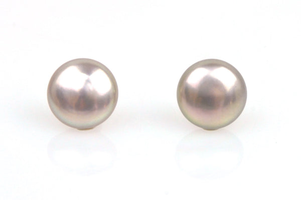 brassy mauve coin pearl pair