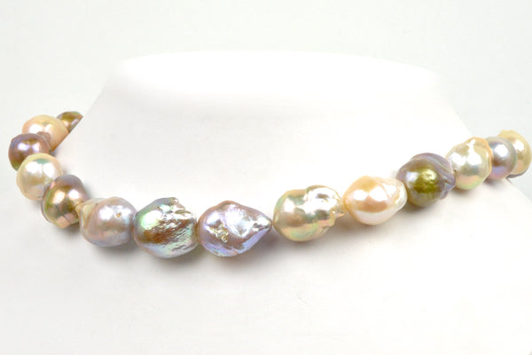 mix color flameball pearl strand