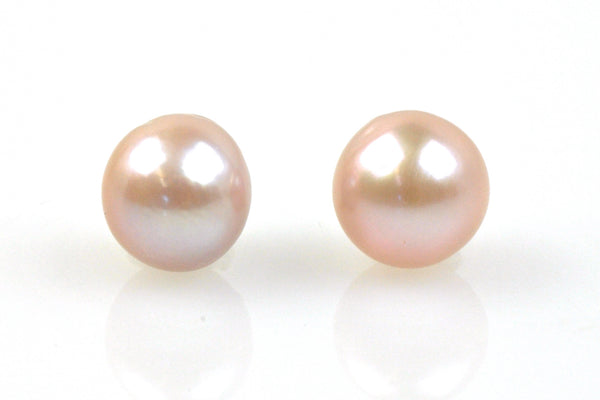 light pink japan kasumi pearl pair