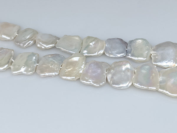 HUGE White Chinese freshwater rectangular pearl strand