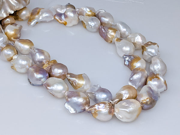 Chinese Freshwater flameball pearl 22-23mm strand