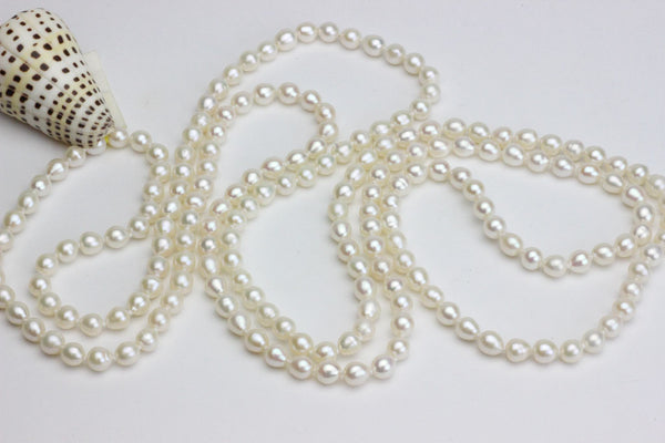 Classic very long Chinese freshwater white endless rope