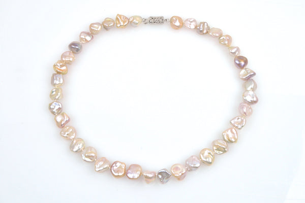 pale pink keshi necklace
