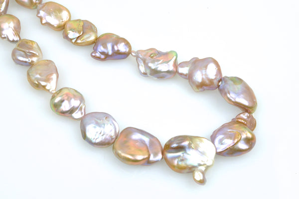 baroque natural color coin pearls