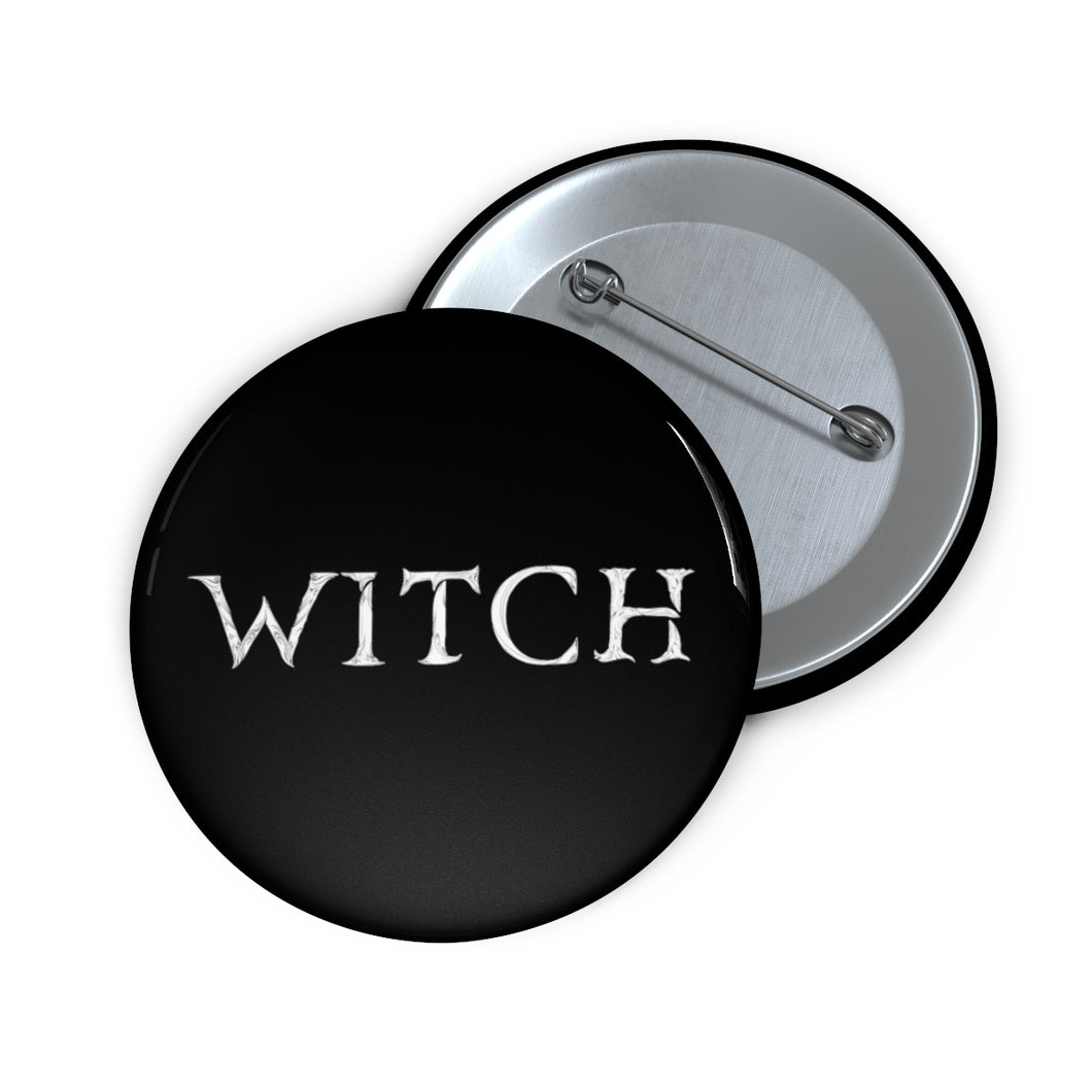 Witch Text Pin Button
