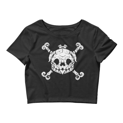 Pug Pirate Women's Crop Tee
