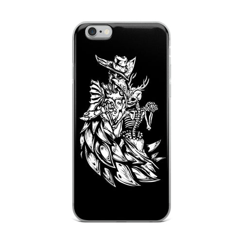 Plague Doctor & Death iPhone Case