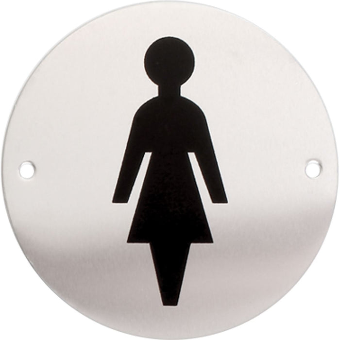 iGadgitz Home Aluminium WC sign, Toilet Sign, Washroom Sign, Restroom sign, Lavatory Sign - Toilets, Lavatories, Cloakrooms, Restrooms, Washrooms