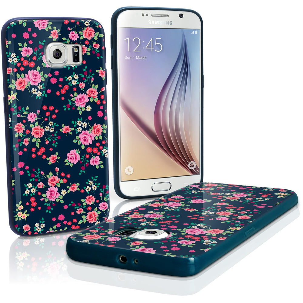 "iGadgitz ""Designer Collection"" Glossy TPU Gel Skin Case Cover for Samsung Galaxy S6 SM-G920 + Screen Protector"