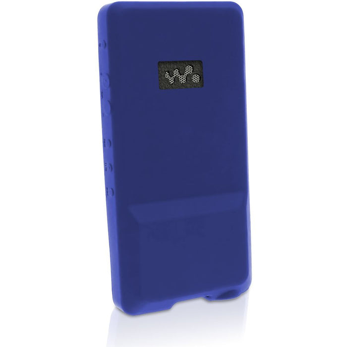iGadgitz U3026 - Blue Rubber Silicone Gel Case for Sony Walkman NWZ-ZX1  Screen Protector