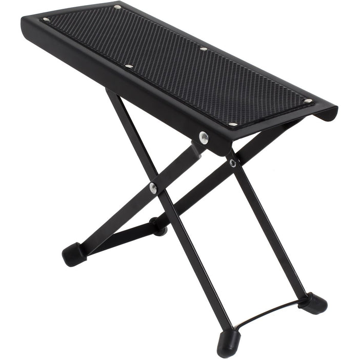 iGadgitz Xtra U6987 - Adjustable Guitar Foot Rest Folding Guitar Footstool Durable Guitar Foot Stand - Black