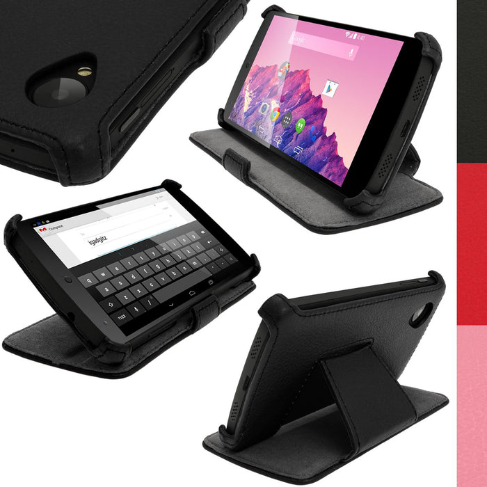 iGadgitz PU Leather Flip Case for LG Google Nexus 5 LG-D820 LG-D821 Smartphone With Sleep/Wake + Screen Protector