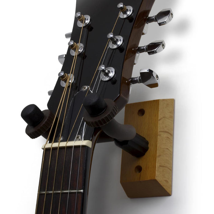 iGadgitz Xtra U7122 Guitar Wall Mount, Guitar Hanger, Guitar Bracket, Guitar Holder, Guitar Hook - Light Brown