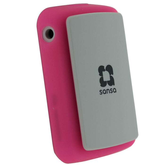 iGadgitz Pink Silicone Skin Case Cover for SanDisk Sansa Clip Zip 4GB 8GB MP3 Player (Released Aug 2011)