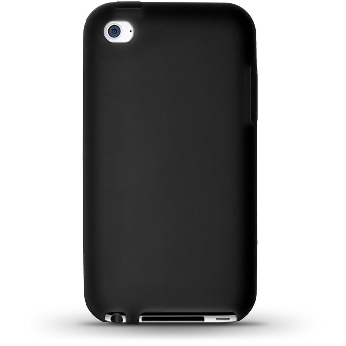 iGadgitz Black Silicone Skin Case Cover for Apple iPod Touch 4th Generation 8gb, 32gb, 64gb + Screen Protector