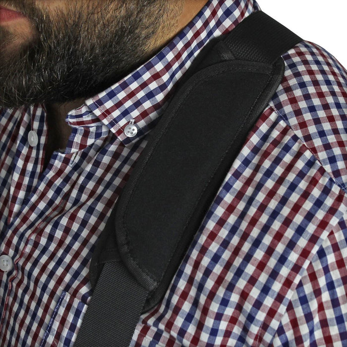 Shoulder Strap Pad Bag Strap Pad - Neoprene Shell and Natural Rubber Padding - Black