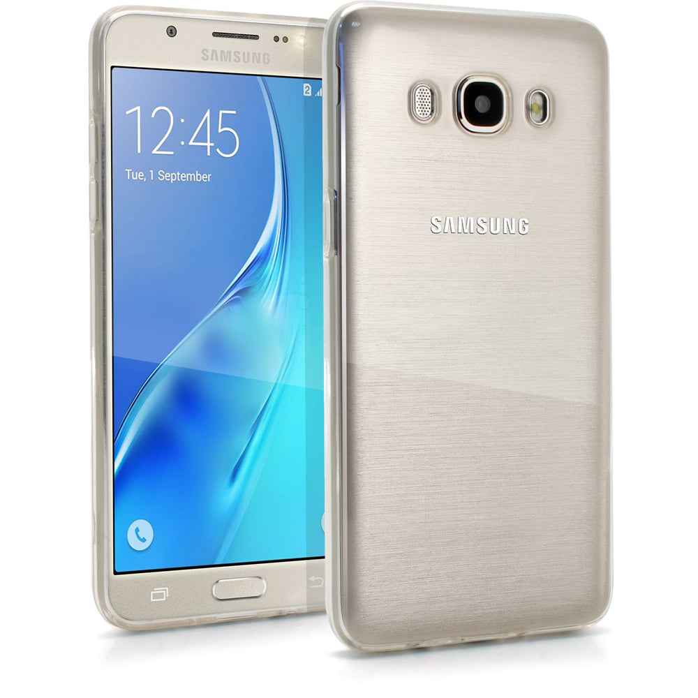 iGadgitz Transparent Clear Glossy TPU Gel Skin Case Cover for Samsung Galaxy J5 2016 J510FN + Screen Protector