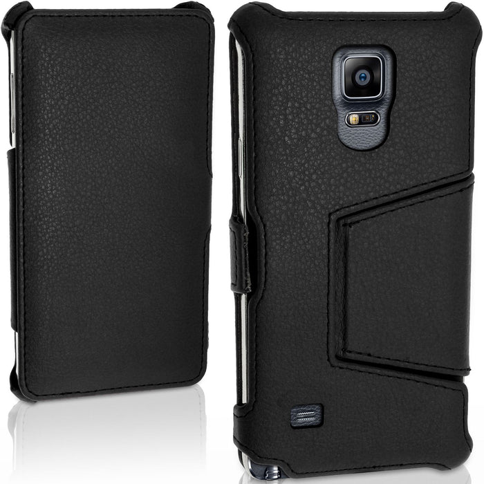 iGadgitz Premium PU Leather Case for Samsung Galaxy Note 4 SM-N910 with Stand + Screen Protector (various colours)