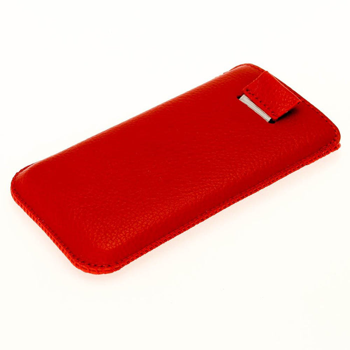 iGadgitz Red Leather Pouch Case Cover for New Apple iPhone 5 5S 5C SE Mobile Phone 4G LTE