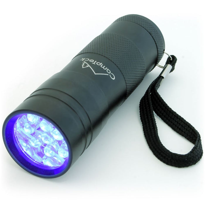 CampTeck 12 LED UV Torch 395nm Ultra Violet Flashlight Blacklight Pet Dogs Cats Urine & Stains Detector