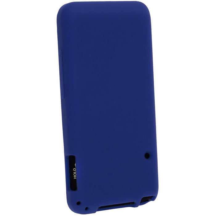 iGadgitz U2724 - Blue Silicone Skin Case Cover for Sony Walkman NWZ-E585 8GB 16GB  Screen Protector
