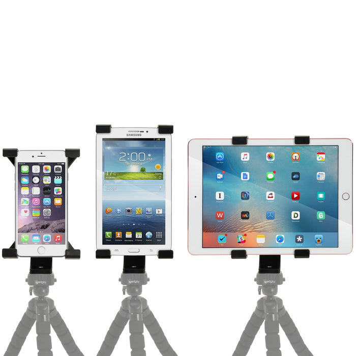 "iGadgitz Universal Tablet Holder Mount Bracket for Tripods with 1/4 Inch Screw Thread – Fits tablets 7"" - 10"" Tablets"
