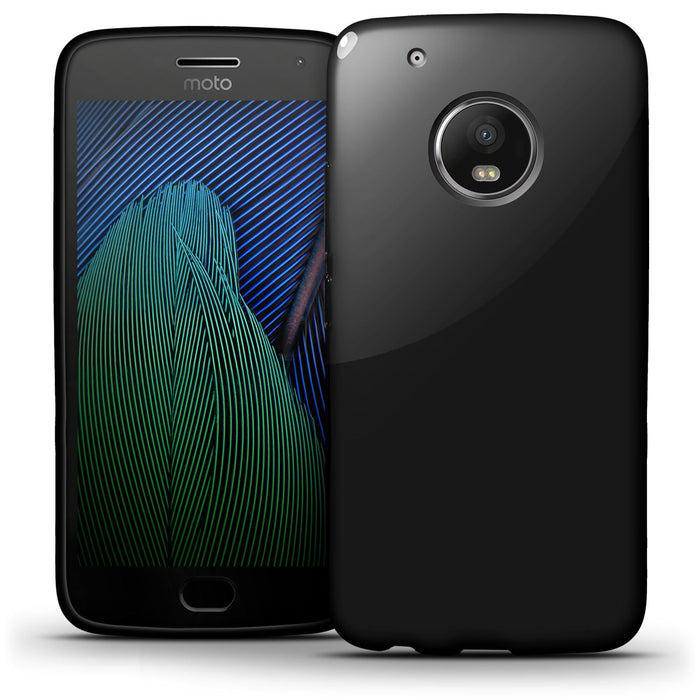 iGadgitz Glossy TPU Gel Skin Case Cover for Motorola Moto G5 Plus (Lenvo Moto G5 Plus) + Screen Protector