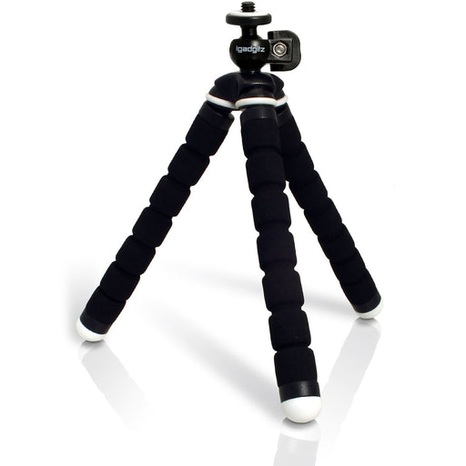 iGadgitz Lightweight Small Universal Flexible Foam Mini Tripod for Compact Cameras – Black