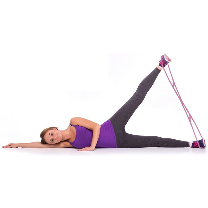 CampTeck Booty Resistance Band for Legs and Glutes Muscle Workout, Yoga, Pilates, Brazilian Butt Lift System - Pink