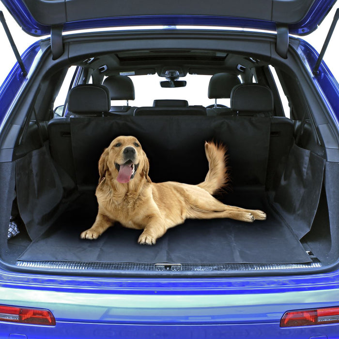 Universal Waterproof Car Boot Protector Durable Car Boot Cover Pet Seat Mat - Black