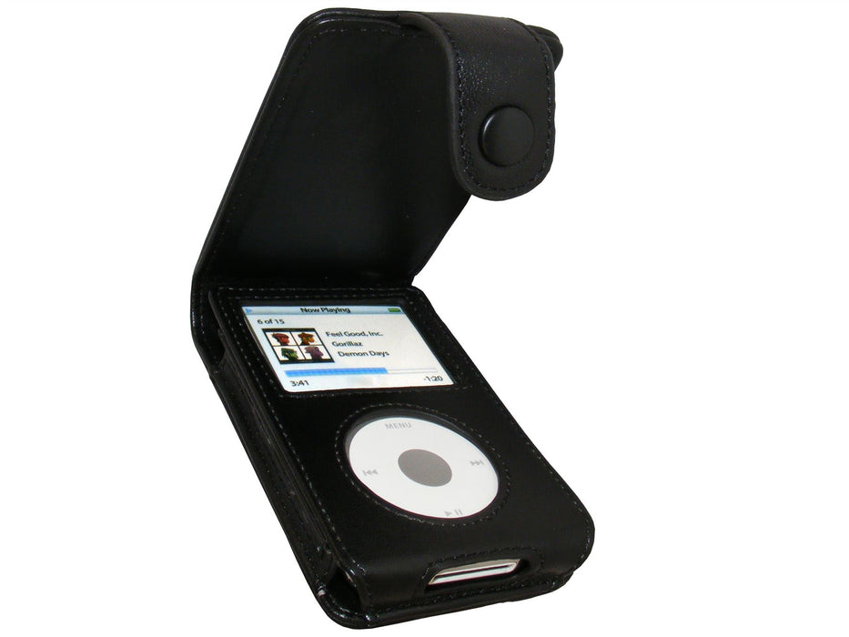 iGadgitz Leather Case for Apple iPod Classic 80gb, 120gb, 160gb + Belt Clip & Screen Protector (PU & Genuine leather available)