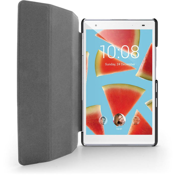 iGadgitz Premium Black PU Leather Smart Cover Case for Lenovo Tab 4 8'' 2017 (Not Plus Model) with Multi-Angle Viewing Stand + Screen Protector