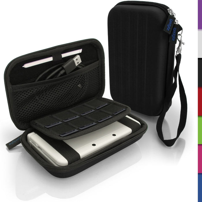 iGadgitz EVA Hard Travel Carry Case Cover for New Nintendo 3DS XL 2DS XL with Clip On Carry Strap