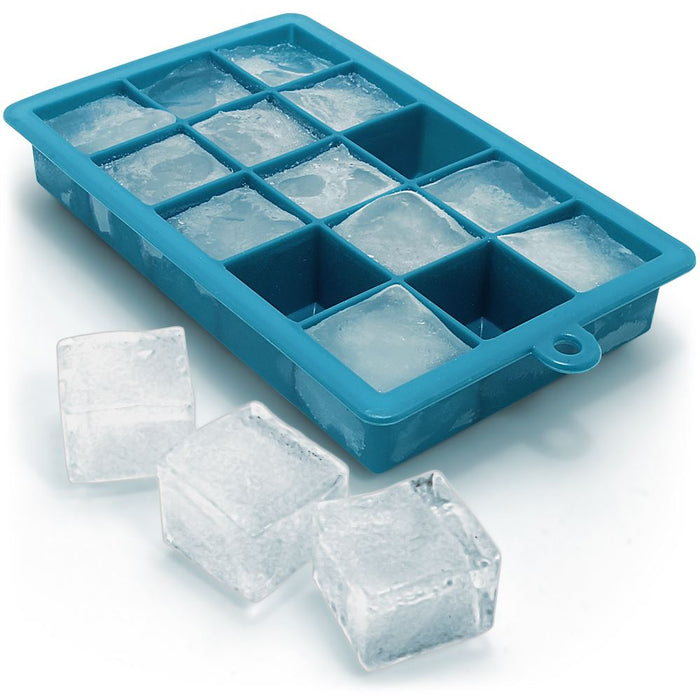 iGadgitz Home Silicone Ice Cube Tray 15 Square Food Grade Ice Cube Moulds – Pack of 1