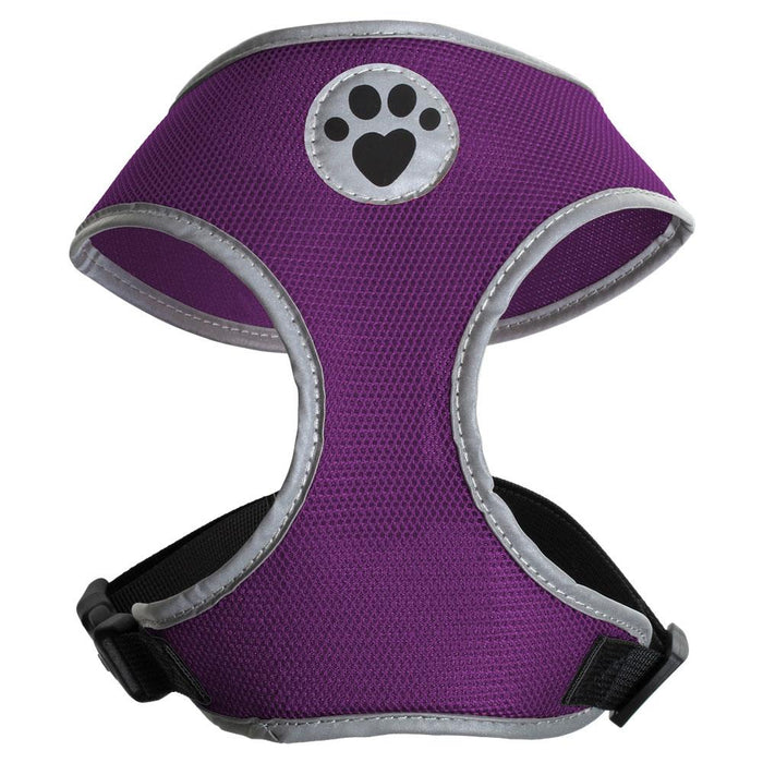 iGadgitz Home Sweat-Proof Dog Harness, Puppy Harness, Walking Dog Vest in Various Colours with Reflective High Visibility Piping & Secure Lockable buckle