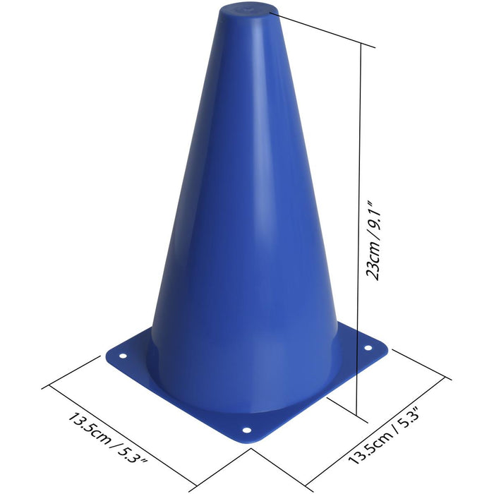 CampTeck U7154 Sports Cones, Sport traffic Cones, Football Cones -Multicolour -12pcs