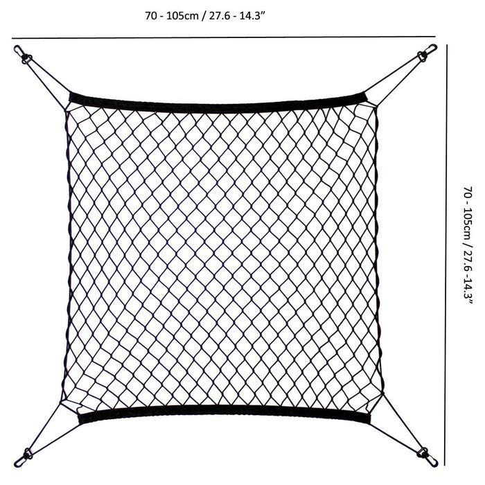 iGadgitz Home U7115 Cargo Net, Car Boot Net, Car Net Storage, Boot Net Organiser - Black