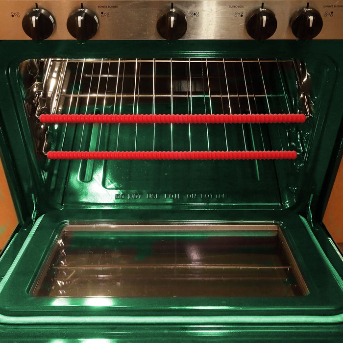 iGadgitz Home U6785 Silicone Oven Rack Guard BPA-Free Oven Rack Shields Burns and Scars Protector – Red, 2 Pieces