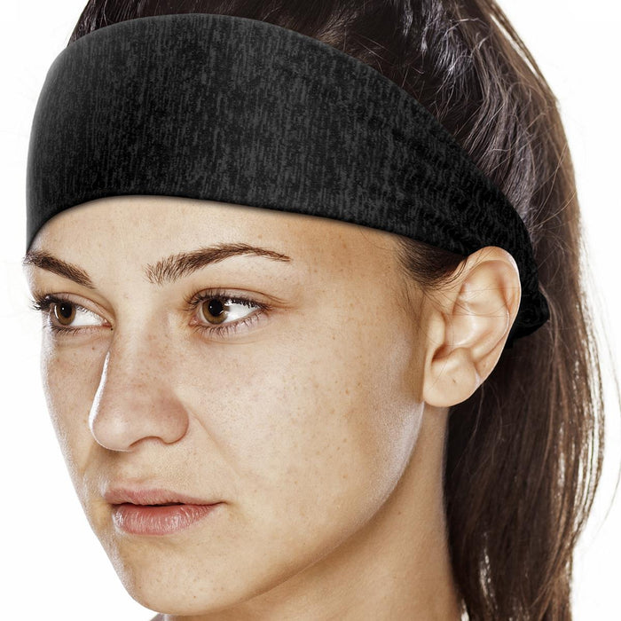 CampTeck U7200 Polyester Sport Headband, Sports Hairband, Sports Sweatband, Yoga Headband Bandana, Gym Headband - Pack of 5 - Multi-coloured