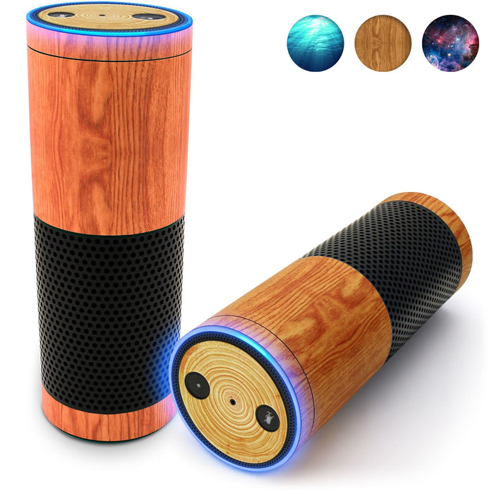 iGadgitz Print Protective Vinyl Skin Decal Wrap Cover for Amazon Echo Plus